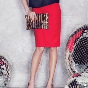 J. Crew Classic Red No. 2 Pencil Skirt